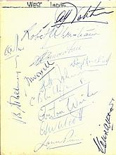 CRICKET: An autograph album containing over 200