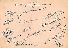 ENGLAND CRICKET: An autograph album containing a