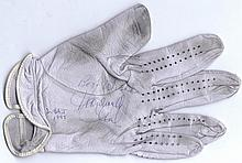 GOLF: Small selection of signed golf gloves by