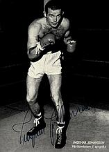 BOXING: Selection of signed postcard photographs