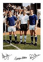 ENGLAND FOOTBALL: Signed colour 8 x 11.5