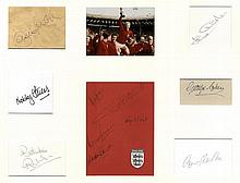 ENGLAND FOOTBALL: Individual signed pieces and