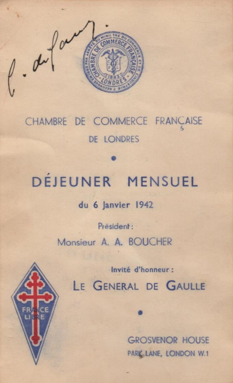 De gaulle charles 1890 1970 french general and statesman for Chambre de commerce francaise a londres