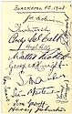 BLACKPOOL F.C.: A 12mo card individually signed by