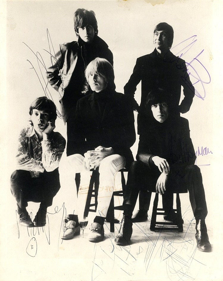 ROLLING STONES THE: Vintage signed and inscribed 8