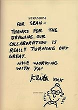 HARING KEITH: (1958-1990) American Pop and Graffiti Artist. An excellent book signed and inscribed, a hardback edition of Eight Ball, First Edition published by Kyoto Shoin International Co. Ltd., Japan, 1989, as part of the Art Random series. The