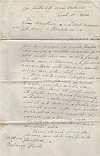 POMARE IV: (1813-1877) Queen of Tahiti 1827-77. L.S., Pomare, three pages, folio, on board 'the litt