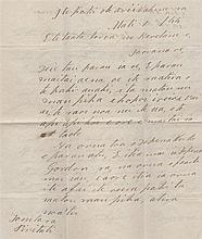 POMARE IV: (1813-1877) Queen of Tahiti 1827-77. L.S., Pomare, two pages, 4to, on board Her Majesty's