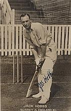 HOBBS JACK: (1882-1963) English Cricketer. Vintage signed postcard photograph of the Surrey and Engl