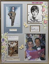 MY FAIR LADY: An unusual selection of signed pieces, cards, album pages, a few signed photographs et
