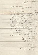 POMARE IV: (1813-1877) Queen of Tahiti 1827-77. L.S., Pomare, one page, folio, Papeete, 26th June 18
