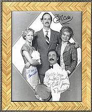 FAWLTY TOWERS: Signed 8 x 10 photograph by the four main cast members of the BBC television sitcom F