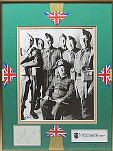 DADS ARMY: A good selection of signed pieces, cards, album pages, 8 x 10 photograph (1) by the main