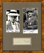 CHRISTIE AGATHA: (1890-1976) English Crime Novelist. Blue ink signature ('Agatha Christie') on an ob