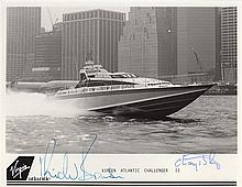 SAILING: Selection of signed pieces, signed photographs and bookweight photographs of various sizes,