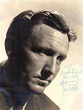 TRACY SPENCER: (1900-1967) American Actor, Academy Award winner. Vintage signed and inscribed 10 x 1