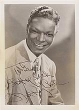 COLE NAT KING: (1919-1965) American Singer & Jazz Pianist. Vintage signed sepia 5 x 7 photograph of