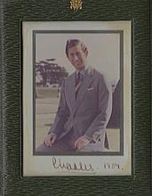 CHARLES: (1948-     ) Prince of Wales. Signed colour 4 x 5 photograph of the Prince seated outdoors