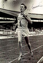 SPORT: Small selection of signed 8 x 10 photographs by various sportsmen comprising Roger Bannister,