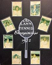 TENNIS: Small selection of eight individually signed colour 3.5 x 5 photographs by various tennis pl