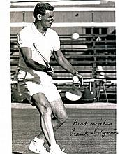 TENNIS: Selection of signed 8 x 10 photographs by various tennis players, some of them Wimbledon Cha