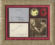 WORLD WAR II: B. L. Montgomery (1887-1976) British Field Marshal of World War II. Bold fountain pen