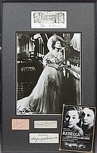 REBECCA: Selection of individual signed pieces, 8 x 10 photographs (2) by the main cast members, dir
