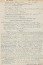 WORLD WAR I: D.S., A.T. Whitelock, K.F. Balmain, one page, folio, n.p. (France), 20th September 1915