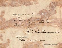 BURROUGHS EDGAR RICE: (1875-1950) American Writer, creator of the jungle hero Tarzan. Vintage founta