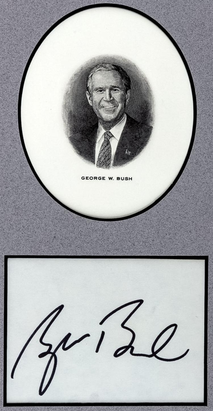 Bush George W Large Signature