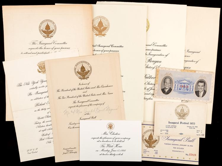 Presidential Memorabilia Group Of Inaugural Invitations