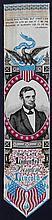 [Lincoln, Abraham] Lincoln Stevensgraph Ribbon
