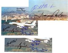 7 Past U.S. Presidents, 1969-2009, Signed Photograph of Air Force One