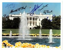 Seven Presidents Signed Photo of White House