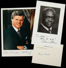 Collection of Signatures of Supreme Court Justices, Politicians, Entrepreneurs