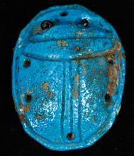 Egyptian Faiance Scarab