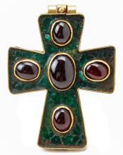 Byzantine Gold Reliquary Cross