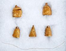 500-200 B.C. Bell Shaped Gold Ornaments