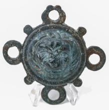 Roman Bronze Ornament with Lion Head