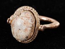 Ancient Egyptian Scarab Ring