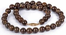Meteorite Jewelry Round Beads with 14K Gold Beads