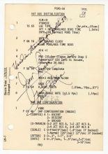 1970 Apollo 13 Jim Lovell & Fred Haise Signed Training Manual Page