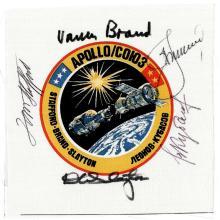 1975 Apollo-Soyuz Flown Crew Signed Beta Cloth