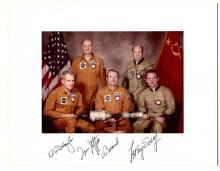 Apollo-Soyuz Autographed Crew Photo