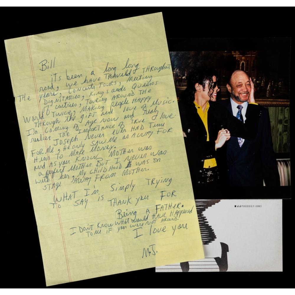 Michael Jackson: Hervorragender handgeschriebener und äußerst herzlicher Brief an Bill Bray für seine Liebe und