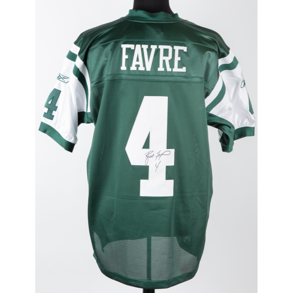 sports shoes 7eb85 7c1ab Brett Favre Signed NY Jets #4 Onfield Reebok NFL Equipment ...