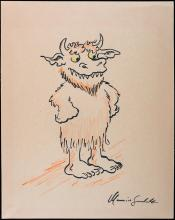 Sendak, Maurice; Outstanding Original Illustration Signed. Where The Wild Things Are