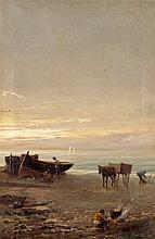 EMILIO MILLÁN FERRIZ (Ceuta, 1859-?). Oil on canvas