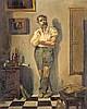 NICOLÁS ALPERIZ 1865 Sevilla 1928 El taller del pintor, Nicolás Alpériz, €600