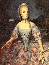 JOSÉ MESEGUER 1896 Valencia 1957 Retrato de María Carolina de Habsburgo- Lorena, reina de Nápoles